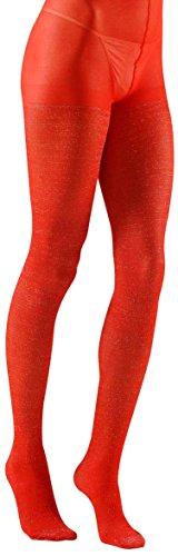 Widmann-Strumpfhose Glitter Womens, Rot, One Size, (Womens Fancy Dress Ideen)