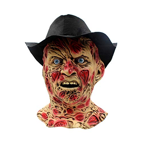JGBHPNYX Freddy Mask Halloween Horror Ghost Zombie Copricapo