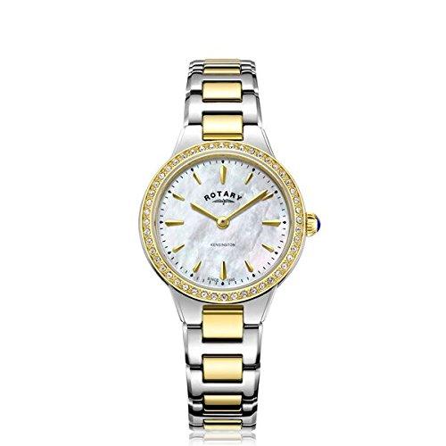 Rotary Reloj kensington de dos tonos con piedra para mujer LB05277/41