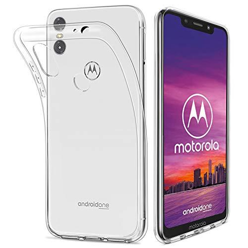 HOOMIL Durchsichtige Handyhülle für Motorola One Hülle, Silikon Transparent Schutzhülle für Motorola Moto One Case Cover, HD3488