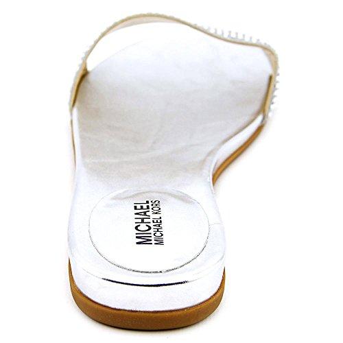 Michael Michael Kors Eleanor Slide Textile Sandale Silver