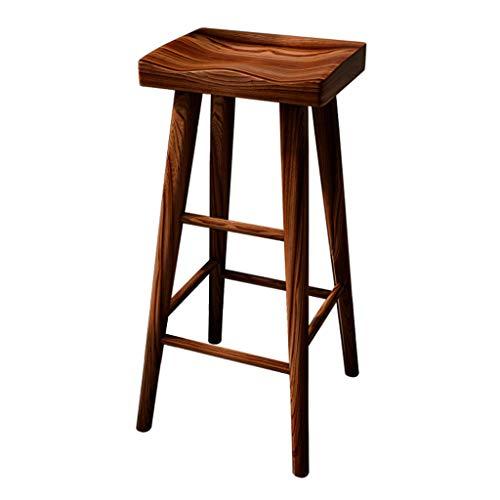 ZDD Moderne Log Bar Chair Home Massivholz Barhocker Stuhl Esstisch Hocker Hohe Hocker (Farbe : Nussbaum, größe : 34x26x65cm) - Esszimmer Nussbaum Barhocker