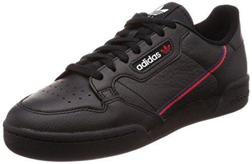 adidas Herren Continental 80 Derbys, Mehrfarbig (Black Cblack/Scarle/Conavy), 43 1/3 EU