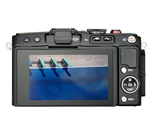 Olympus Pen E-PL6 Kamera (16,1 Megapixel, Full HD, 7,6 cm (3 Zoll) Display, WiFi) inkl. 14-42mm Pancake Objektiv/8GB Flash Air Karte schwarz - 2