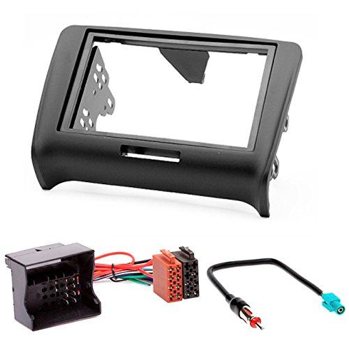 2002 CARAV 11 134 2002 2006/ 24 + Adaptateur ISO and Antenna Cable W220 2006; CLASSE S 7/Kit dinstallation autoradio DIN Car de 2/dans Dash Set for MERCEDES-BENZ CLASSE CL Noir C215