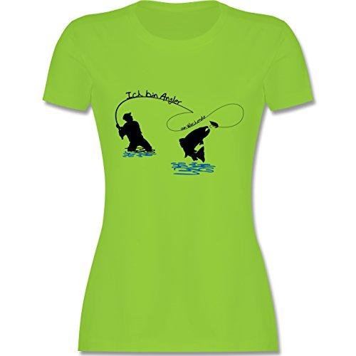 Angeln - Ich bin Angler am Wochenende - tailliertes Premium T-Shirt mit  Rundhalsausschnitt für