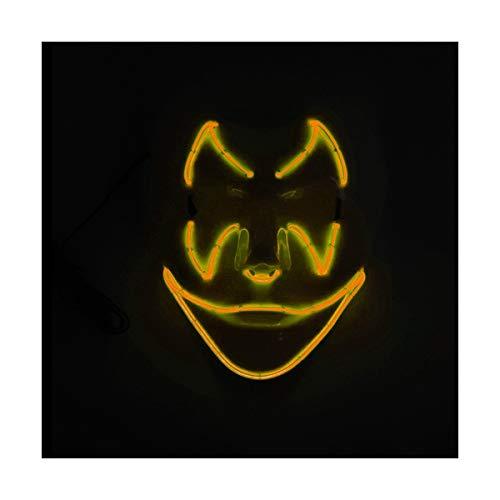 YOIO LED-Maske Fledermaus-Smiley-Party-Party EL Kaltes Licht Glut Maske, orange