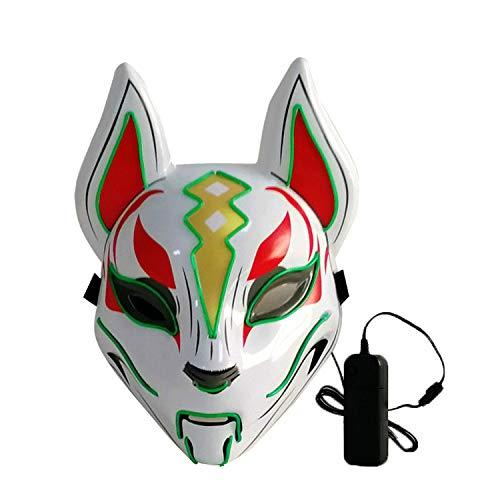 Clown Auf Die Stadt Kind Kostüm - Halloween Scary Mask LED leuchten Maske