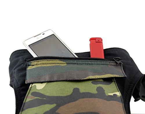 RIÑONERA Plan B Mod. Básica MILITAR – Bolso de cintura, cabe botella de agua pequeña, smartphone, perfecta para vacaciones , escalada, senderismo, deportes al aire libre, bolsa para pasear perros.