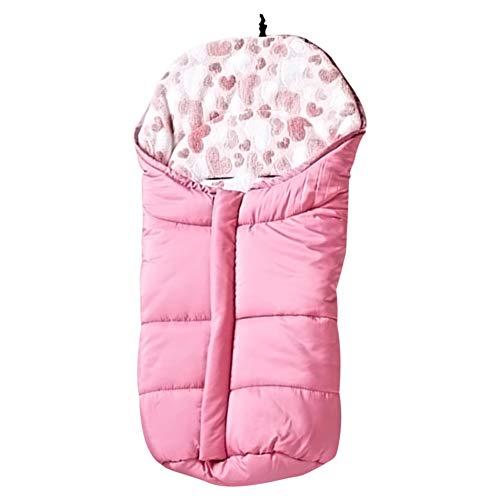 Meijunter Babyschlafsack - Universal Mat Thermo Fußsack Bezug Kinderwagen Bunting Bag Wasserdichte Winddichte Swaddle Decke für 0-12 Monate (Baby Bunting Mädchen)