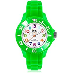 Ice-Mini Children's Size Ice-Watch White Dial Colourful Numbers Green MN.GN.M.S