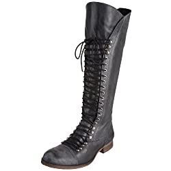 Steve Madden Mens Perrin Black Leather Boots - 10 UK/India (43.5 EU)(10.5 US)