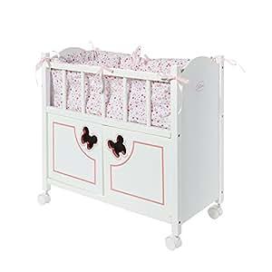 calinou lit en bois papillon avec armoire pour poupon jeux et jouets. Black Bedroom Furniture Sets. Home Design Ideas