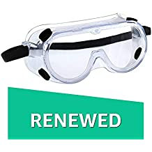 (Renewed) 3M 1621 Polycarbonate Safety Goggles for Chemical Splash, Pack of 1,Clear