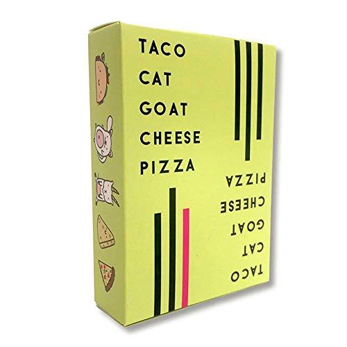 Taco-Katzen-Ziegenkäse-Pizza-englische Spiel-Karten-Partei-Karte