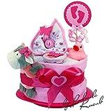 Couchs Pampers > cadeau pour bébé (fille), nuances de rose–Cadeau de naissance, de baptême, de baby party // Cadeau original et pratique pour béb&eacute