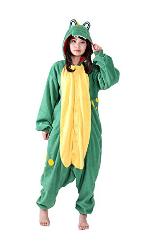 Fandecie Tier Kostüm Tierkostüm Tier Schlafanzug Hund Pyjamas Jumpsuit Kigurumi Narwal Damen Herren Erwachsene Cosplay Tier Fasching Karneval Halloween (Krokodil, L:Höhe 170-179cm)