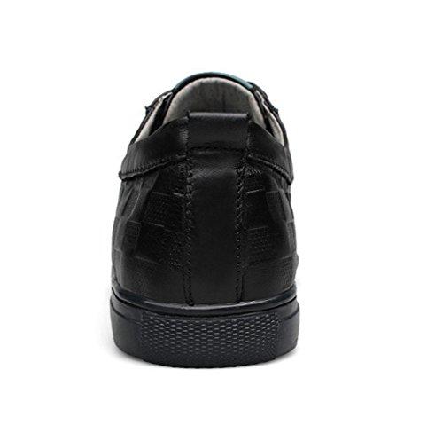WZG première couche de chaussures en cuir des chaussures de British chaussures mode casual chaussures en dentelle 9.5 Nouveaux cuir pour hommes Black
