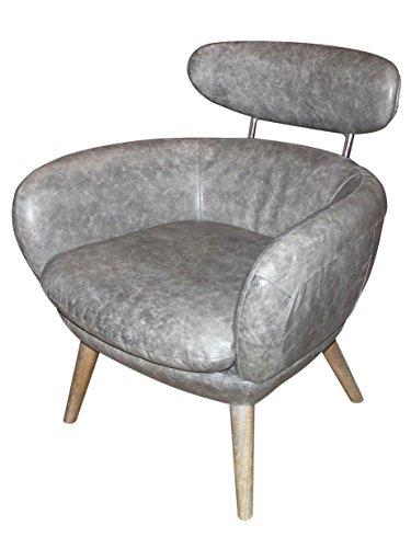 Designsessel Swinford Vintage Leder Boeing Grey Echtleder Sessel