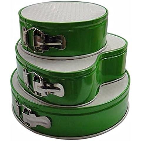 RFF-Famiglia gadget utili Gli strumenti di cottura non - bastone fibbia smalto - a forma di cuore stampo da plum cake, Verde-MEIXI&