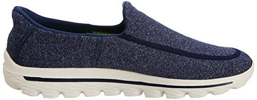Skechers Go Walk 2 Super Sock, Chaussures de Ville Homme Bleu (Nvgy)