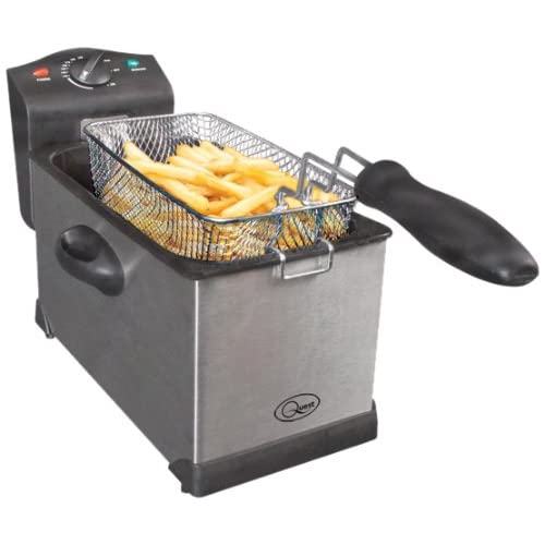 41CuVuWkyZL. SS500  - Quest 35140 Stainless Steel Deep Fat Fryer, 3 Litre, 2000W, 40x18x25cm, Silver