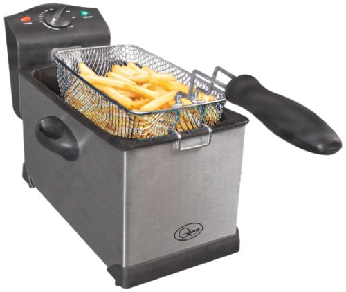 41CuVuWkyZL - Quest 35140 Stainless Steel Deep Fat Fryer, 3 Litre, 2000W, 40x18x25cm, Silver