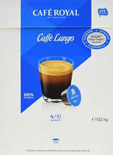 Café Royal Café Lungo, 64 kompatible Kapseln für Nescafé Dolce Gusto, 4er Pack (4 x 16 Kapseln)