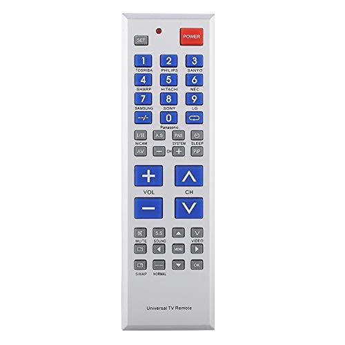 Universalfernbedienung für TV, TV-Controller Ersatzbeschlag mit großen Tasten, Kindersicherung