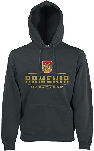 Akytex Armenien Armenia Fan Hoodie Kapuzenpullover WM2018 Graphit XL