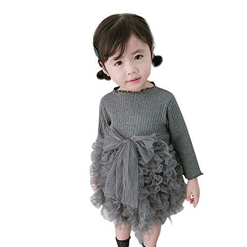 Baby Mädchen Stricken Prinzessin Tutu Kleid Infant Mode Winter Pullover Partykleid Qualität Kleidung Lange Ärmel Stricken Prinzessin Kleid Blumen Garn Röcke Party Kleidung Outfits Geburtstag Outfits
