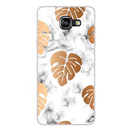 Todo Phone Store Custodia Cover [Disegno] Silicone TPU Gel [Fiori 010] per [Samsung A5 (2016) A510F]
