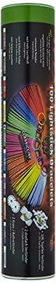 100 Premium Arm-Knicklichter BLAU. Komplett-Set mit 202 Teilen. - Fabrikfrische Qualitätsware - seit 12 Jahren in Markenqualität - unter eigenem Label produziert. Geprüft durch Hansecontrol! von KnickLichter.com (.de) bei Lampenhans.de
