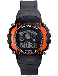 DK Enterprise Casual Digital Orange Dial Boys Watch - DK -3801