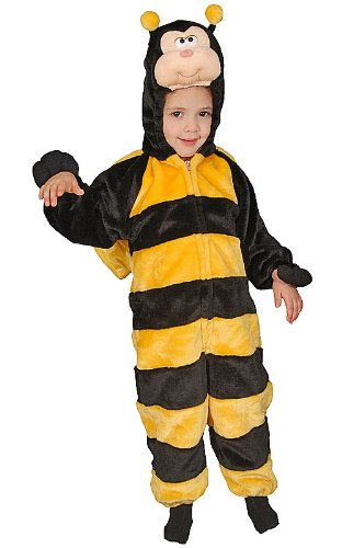 Dress Up America Kinder kleine Buzzy Bee Kostüm Bumble Honig Wespe Geburtstag Bug Party Dress Up Cape auch verfügbar