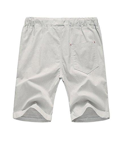 NiSeng Herren große Größe Casual Shorts Urlaub Strand-Shorts Sommer Badeshorts Surf Swim Shorts BoardShorts Elastische Taille Hellgrau