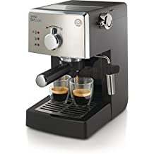 Saeco Poemia Class HD8425/11 - Máquina de café espresso manual para café molido y monodosis E.S.E, 950 W, color negro y gris
