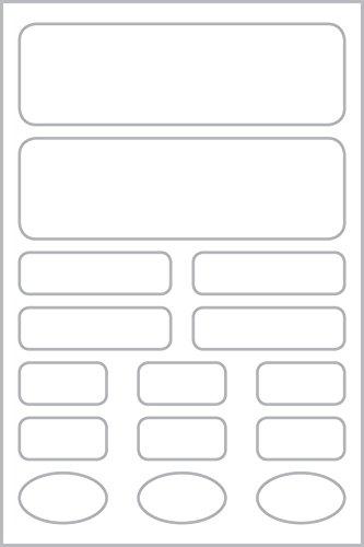 Avery Zweckform 62033 - Etiquetas para tela (varios formatos), color blanco