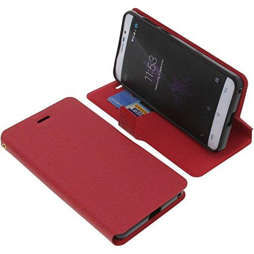 foto-kontor Tasche für Cubot P12 (z100) Book Style rot Schutz Hülle Buch