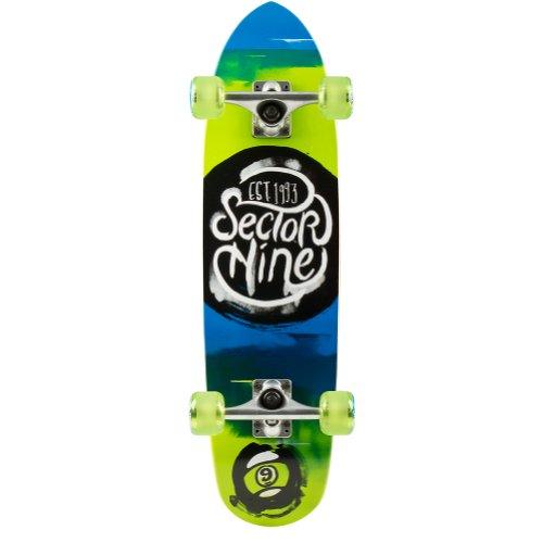 Sector 9 Nugget komplett Skateboard, Herren, grün (Carver Komplett Skateboard)