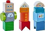 HABA 304353 - Entdeckersteine Roboter-Freunde, Holzspielzeug mit bunten...
