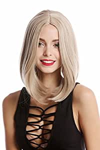 WIG ME UP ® - YZF-4356-16/26/silver Lady Quality Wig short shoulder length Bob Longbob straight middle-parting blond slivery gray grey mix