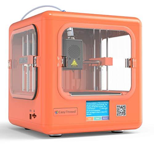 EasyThreed 3D Drucker | Dora| druckt autark, ohne PC (Orange) - 3