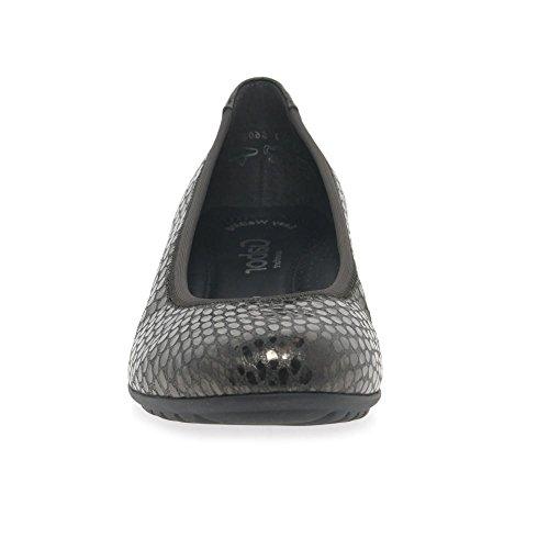 Gabor Shoes Comfort Sport, Ballerine Donna Grigio (Anthrazit)