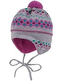 maximo Baby-Mädchen Mütze, Ausgenäht mit Bindeband, Pompon