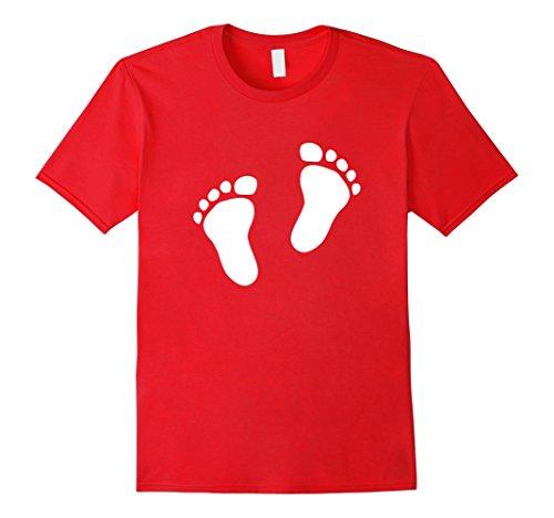baby-feet-t-shirt-herren-grosse-m-rot