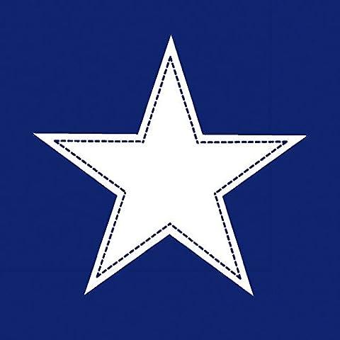 20 Servietten Simple Star dark blue – Stern weiß auf dunkelblau / Muster 33x33cm