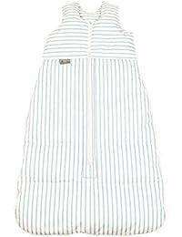 Climarelle Saco de dormir (Plumón, longitud ajustable, alterskl. CA 12–24Meses, rayas color blanco–Bleu, 110cm