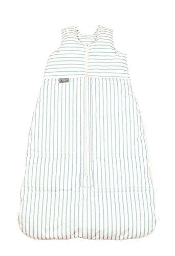 Climarelle Daunenschlafsack, längenverstellbar, Alterskl. ca 12-24 Monate, Streifen weiß - bleu, 110 cm
