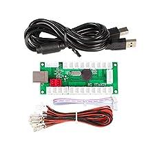 IGames Cero Delay USB Codificador a PC Juegos Mandos Para Arcade Sanwa Kits Piezas Mame Jamma & Otro juegos para PC ( 5Pin Joystick + Sanwa Estilo Pulsar Botón)